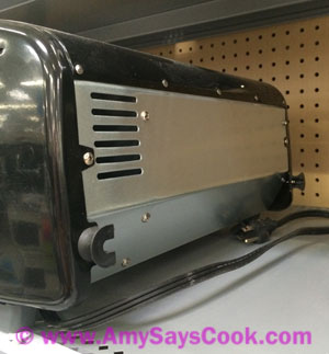 Black and Decker TO1412B Toaster Oven Back