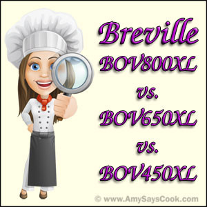 Compare Breville BOV800XL and BOV650XL and BOV450XL